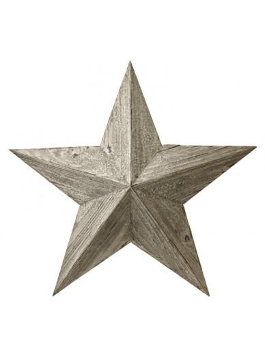 WHITE WOODEN AMISH BARN STAR
