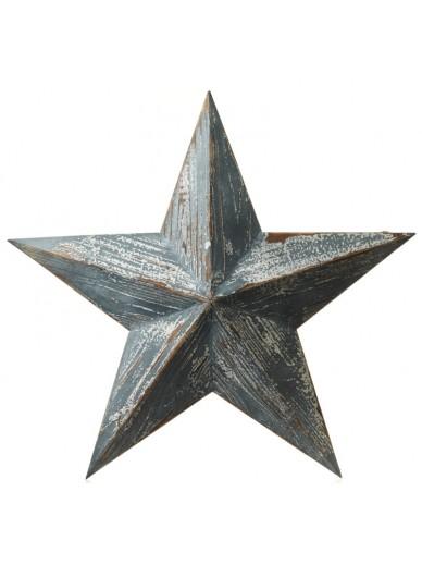 BLUE WOODEN AMISH BARN STAR
