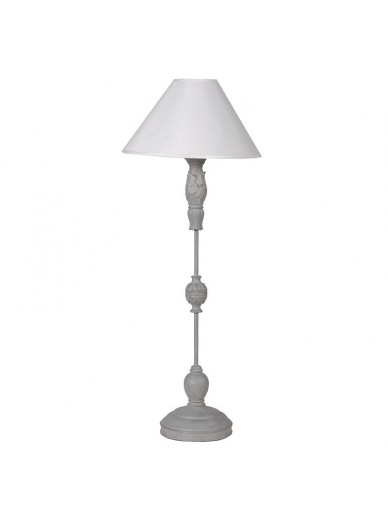 Tall Round Base Table Lamp with Shade