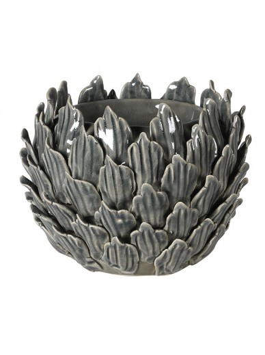 Grey Flower Candleholder