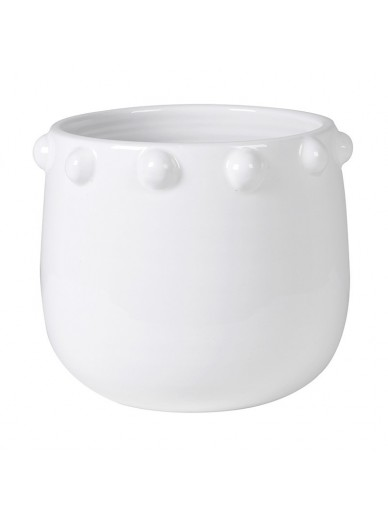 White Bobble Rim Pot