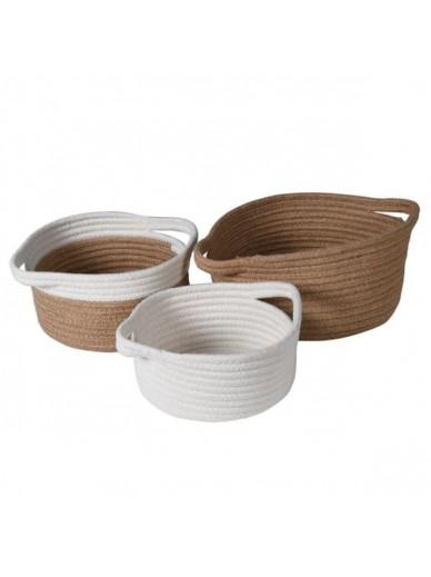Set of 3 Woven Baskets