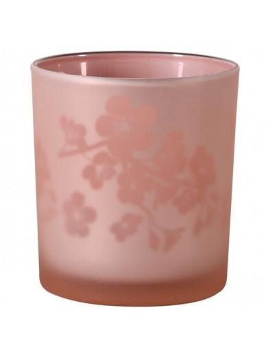 Small Pink Blossom T-light Holder