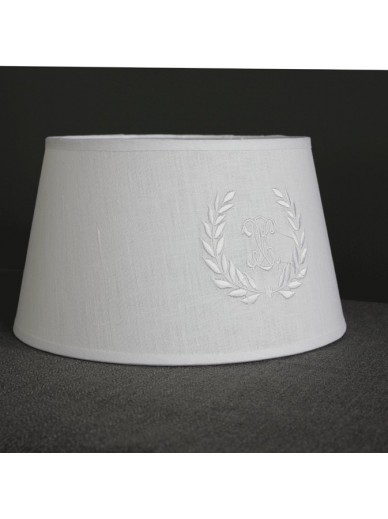 White monogram drum shade