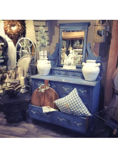 GREEK BLUE EDWARDIAN DRESSING TABLE