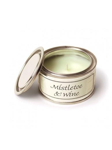 MISTLETOE & WINE FILLED TIN