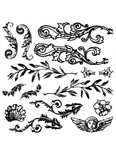 IOD DECOR STAMPS : FLOURISHED