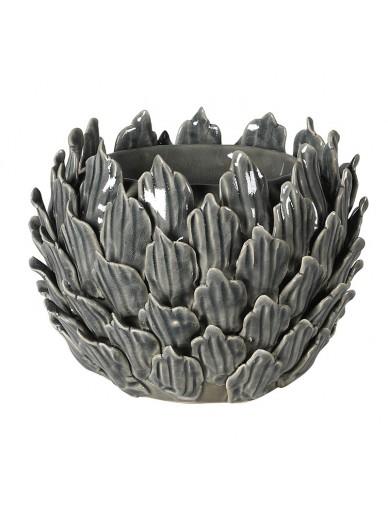 Grey Flower Candleholder