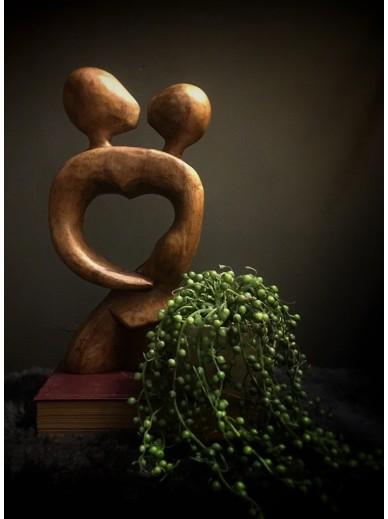Wooden Sculpture Love