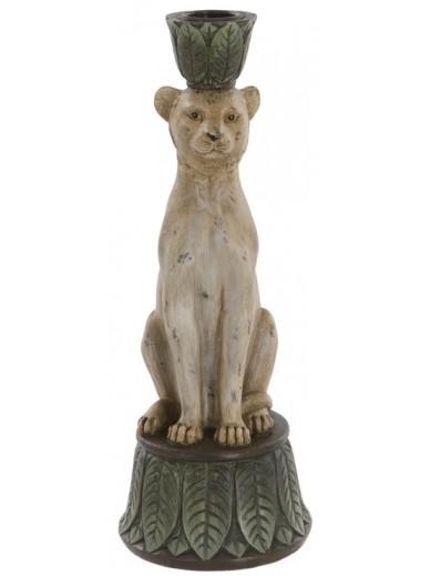 Leopard Candleholder