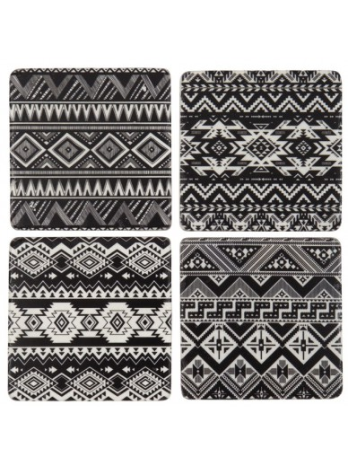 Tribal Pattern Coasters set of 4