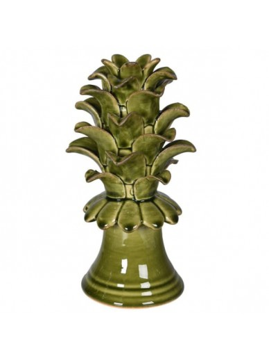 Green Ceramic Pineapple Leaf Decoration