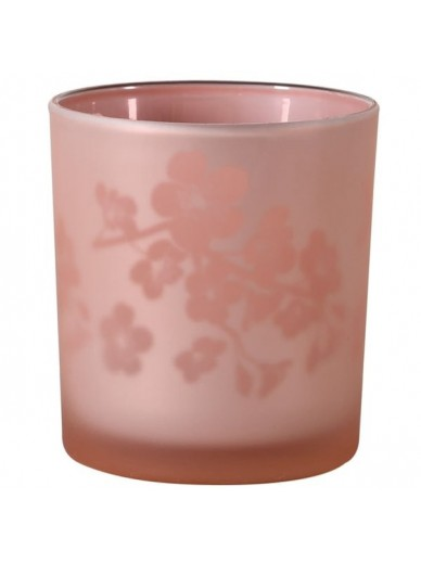 Small Pink Blossom T-light Holder