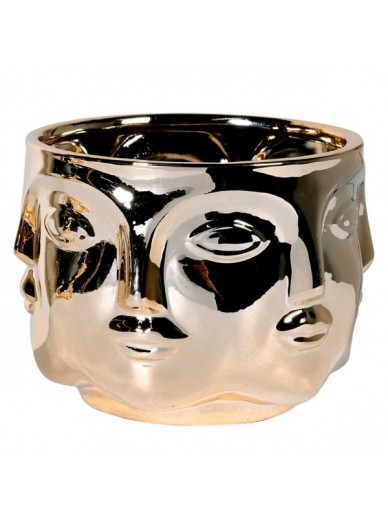 Gold Faces Bowl