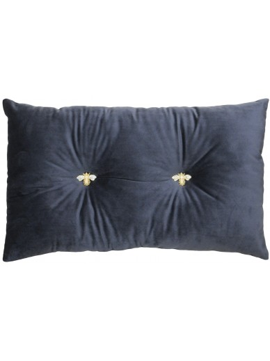 BUMBLE Velvet Cushion Charcoal