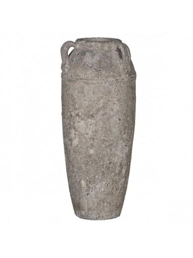 Rustic Clay 3 Handled Vase / Vessel / Urn