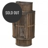 Dark Bamboo Curved Wall Lantern