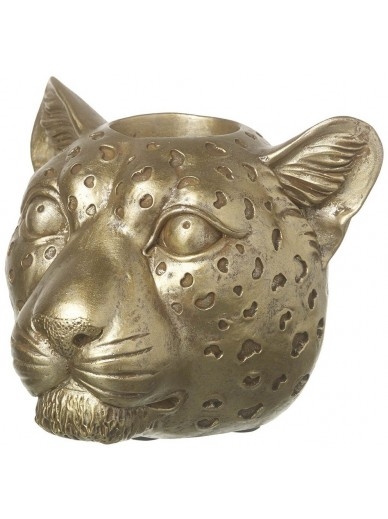 Gold Leopard Tealight Holder