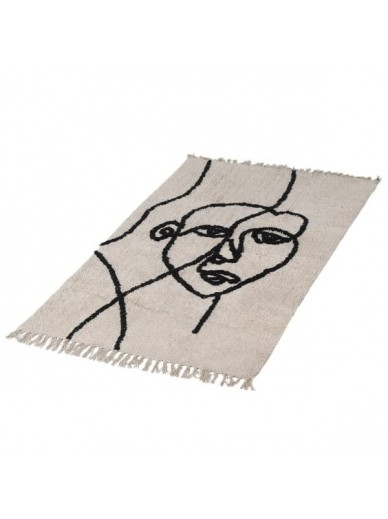 Abstract Face Rug