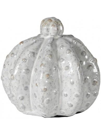 White Squat Stoneware Cactus