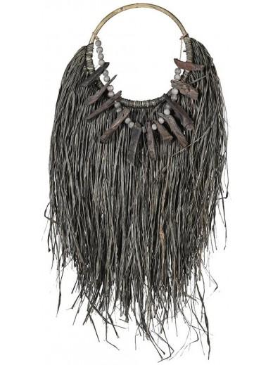Rattan & Grass Necklace Wall Art
