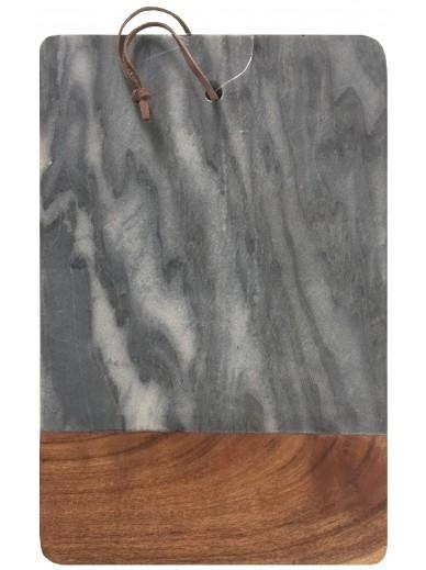 Acacia Wood & Marble Chopping Board Grey