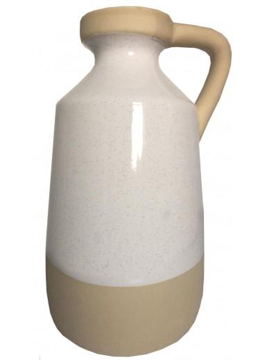 Natural Interiors Two Tone Jug Style Vase 20cm