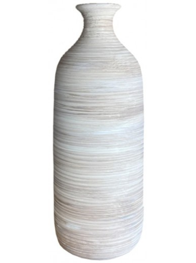 Natural Ribbed Vase 26.5cm