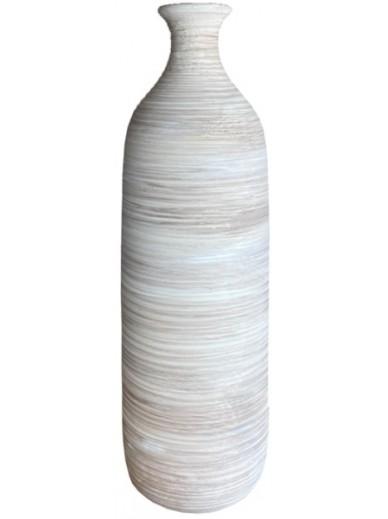 Natural Ribbed Vase 33.5cm