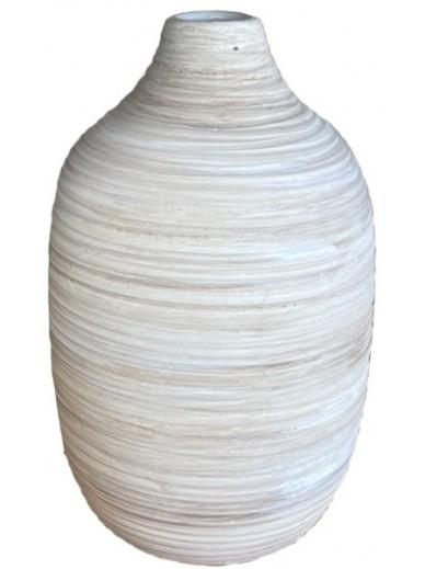 Natural Ribbed Vase 22.5cm