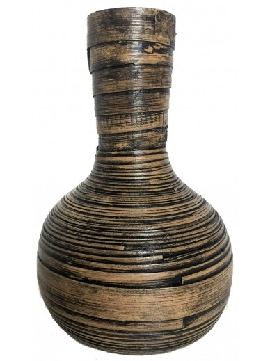 Natural Bamboo Vase 22cm