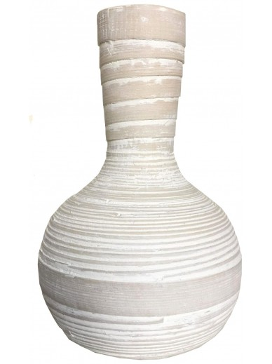 Natural Whitewashed Bamboo Vase 22cm