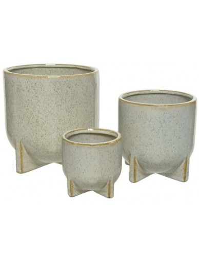 Stoneware Planters Set of 3