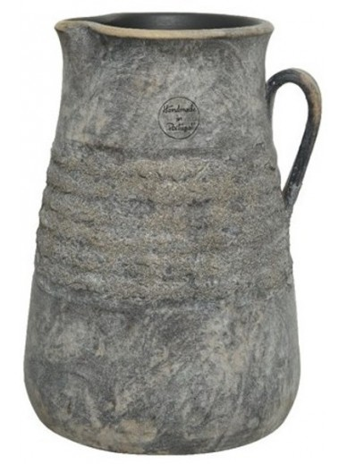 OVERLY DISTRESSED RIDGED VASE 27CM