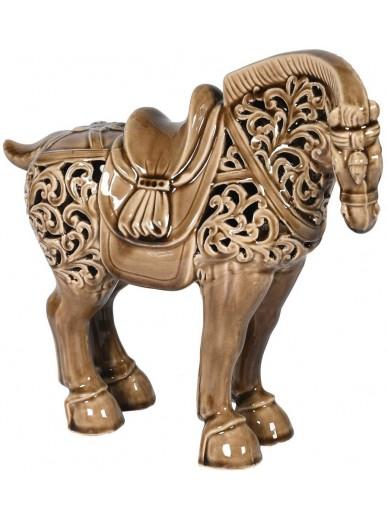 Taupe Toned Decorative Ceramic Horse