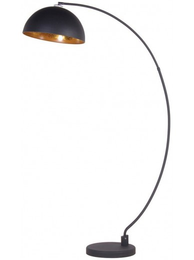 Black Curved Arc Floor Lamp