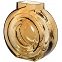 Round Amber Glass Vase