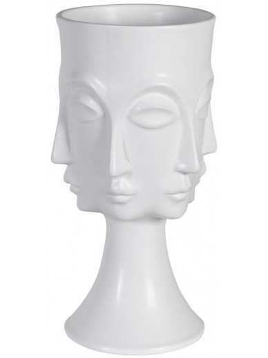 White Multi Face Vase