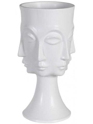 White Multi Face Vase