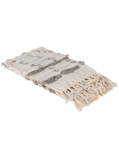 Natural Cotton Tufted Throw