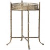 Gold Distressed Mirrored Tray Table