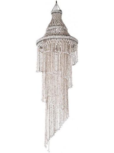 Hanging Spiral Boho Shell Lamp Shade