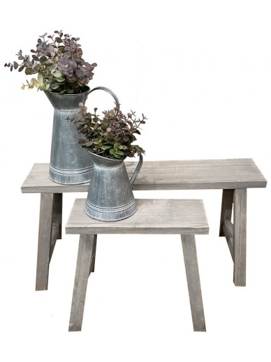 SET OF 2 POTTING BENCHES